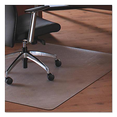 Floortex Cleartex MegaMat Heavy-Duty Polycarbonate Mat for Hard Floors/All Carpets, 46 x 60