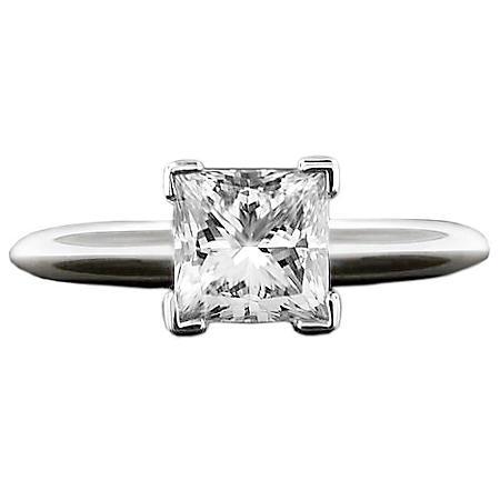 2.0 ct. Princess Diamond Solitaire Ring (I, SI2)