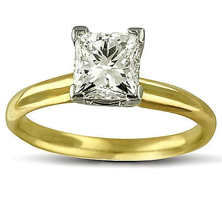 1.50 ct. Princess Diamond Solitaire Ring (I, SI2)
