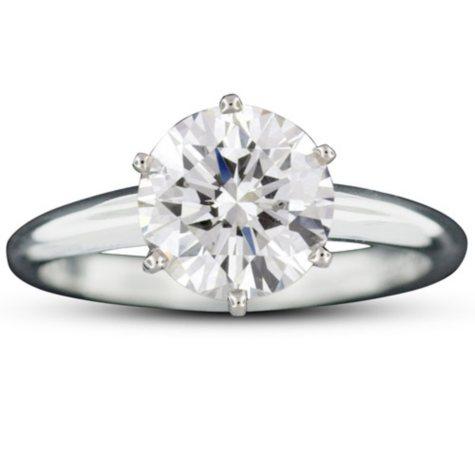 2.03 ct. Brilliant Round-Cut Diamond Ring (E, SI1)