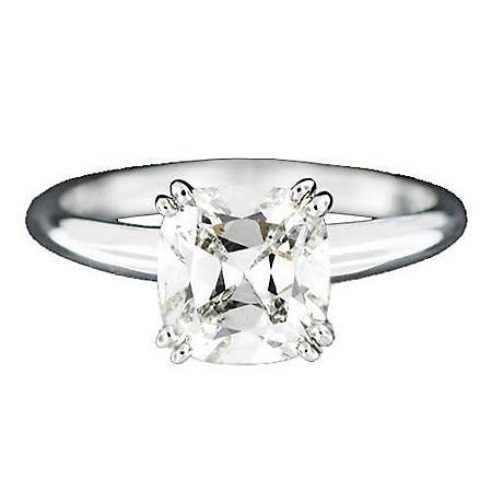 2.01 ct. Cushion-Cut Diamond Ring (I, SI1)