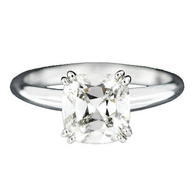 2.01 ct. Cushion-Cut Diamond Ring (I, SI1)