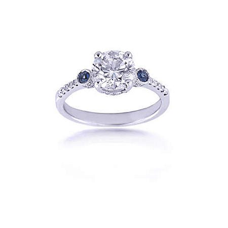 1.76 ct.t.w. Diamond & Sapphire Ring (H-I,VS2-SI1)
