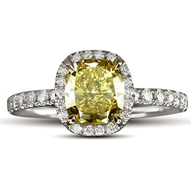 2.09 ct. t.w. Yellow Diamond Ring (H-I, VVS2-I1)