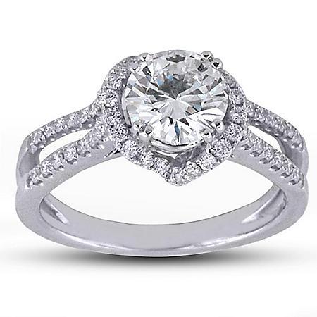 1.48 ct. t.w. Diamond Love Knot Ring (E, SI2)