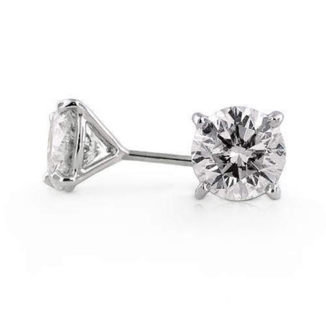 3.06 ct. t.w. Round Diamond Ear Studs (G-H, SI2)