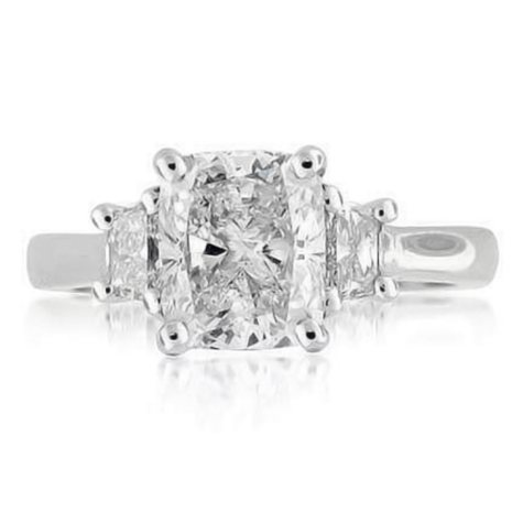 2.70 ct. t.w. Cushion-Cut Diamond Ring  (I, SI1)