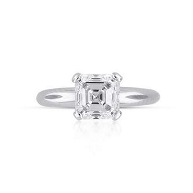 2 07 Ct Asscher Cut Diamond Solitaire Ring I Si1