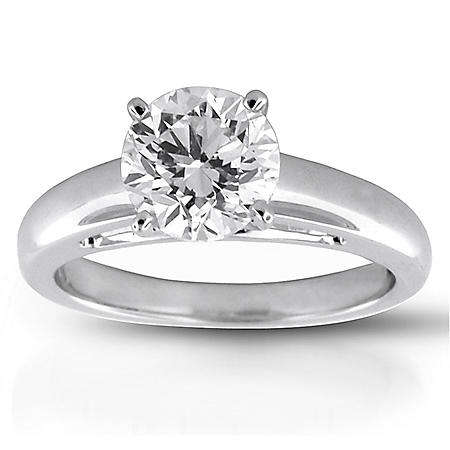 2.02 ct. Round Diamond Solitaire Ring (G, SI1)