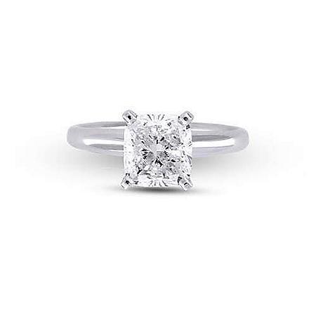 2.04 ct. Cushion-Cut Diamond Solitaire Ring(I,SI2)