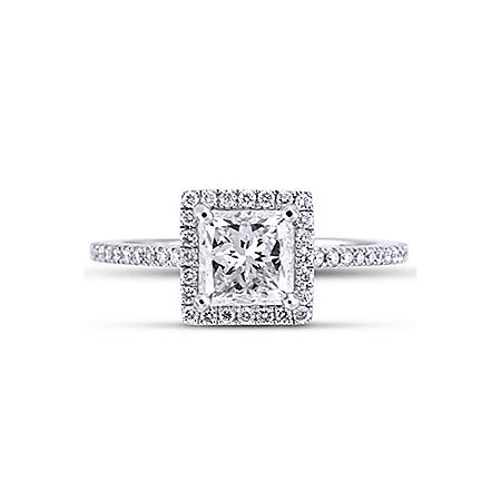 1.8 ct. t.w. Radiant Framed Diamond Ring (H,SI1)
