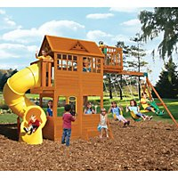 Mount forest lodge playset by cedar summit sams club abbeydale clubhouse with twist n ride tube slide publicscrutiny Image collections