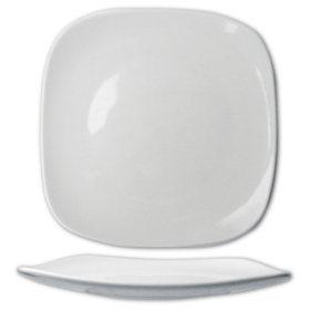 "Quad 9 3/4"" Porcelain Square Plate - 24 pk."
