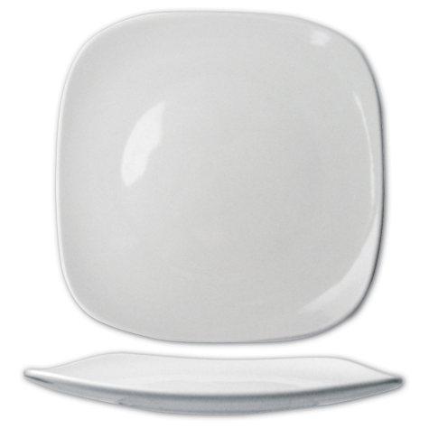 "Quad 11 5/8"" Porcelain Square Plate - 12 pk."