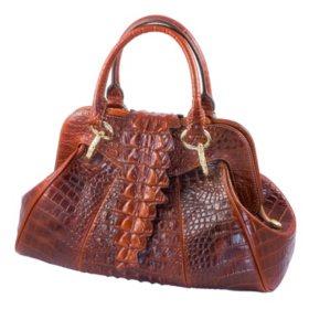 Isabella Adams Croco Tail Satchel Bag