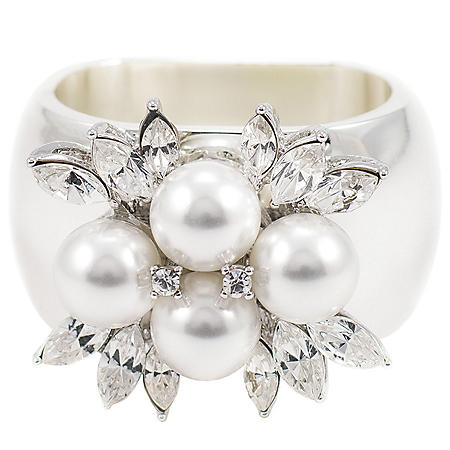 Isabella Adams Crystallized Napkin Rings, Set of 4 (Assorted Styles)