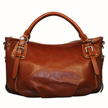 Isabella Adams Rebecca Leather Satchel Brown