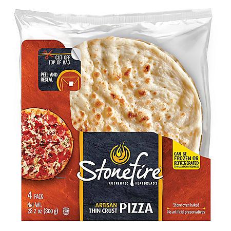 Stonefire Artisan Thin Pizza Crust (7.05 oz., 4 pk.)
