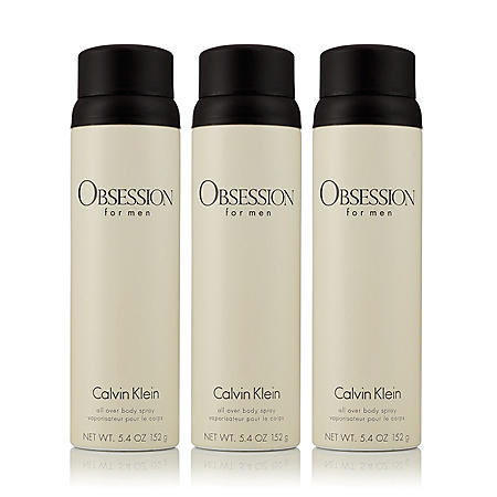 Obsession for Men 3 Pack Body Spray (5.4 oz., 3 pk.)