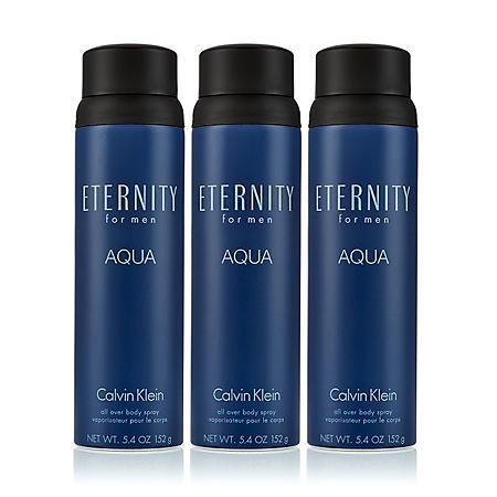 Eternity Aqua for Men 3 Pack Body Spray (5.4 oz., 3 pk.)
