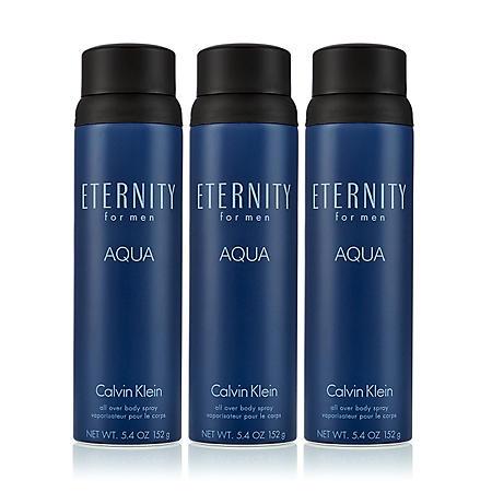 Eternity Aqua for Men 3 Pack Body Spray (5.4 oz., 3 pk.)