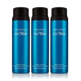 Cool Water 3-Pack Body Spray (5.4 oz., 3 pk.)