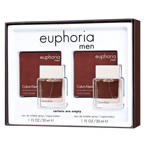 Calvin Klein Men's Euphoria Gift Set (1.0 oz, 2 pk.)