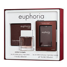 Calvin Klein Men Euphoria 1.0 oz. and Euphoria Pocket Spray Gift Set
