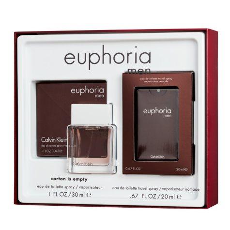 Calvin Klein Men Euphoria 1.0 oz. and Euphoria Pocket Spray Gift Set