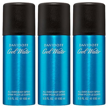 Davidoff Cool Water for Men 3 pack Body Spray (5.0 oz., 3 pk.)