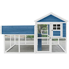 Advantek Roof Top Garden Chicken Coop, Blue