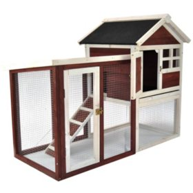 "Advantek Stilt House Rabbit Hutch (48"" x 25"" x 36"")"