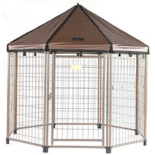 "Advantek's ""Low Profile"" Pet Gazebo and Cover (5' x 5' x 5')"