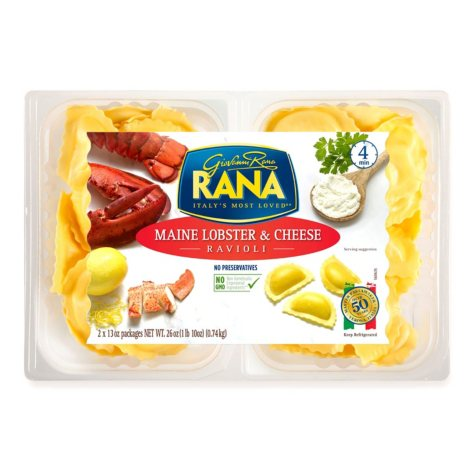 Rana Maine Lobster & Cheese Ravioli (18 oz., 2 pk.)