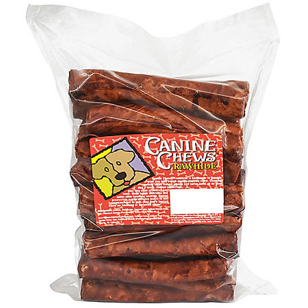 "Canine Chews 8"" Basted Rawhide Retrievers for Dogs - 25 ct. (Choose Your Flavor)"