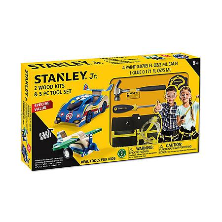 Stanley, Jr. 2 Wood Kits & 5-Piece Tool Set