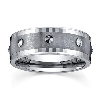 9mm Tungsten Comfort Fit Spinner Band