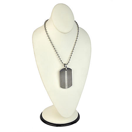 GENTS PENDANT DIA. DOGTAG,TUNGSTEN