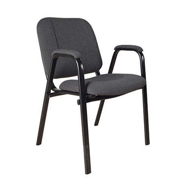 Stack Chair With Arms, Gray