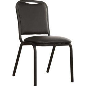 Loft, Vinyl Stack Chair, Black