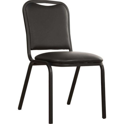 Loft, Vinyl Stack Chair, Black