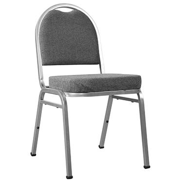 Loft® Stack Chair With Pepper Upholstery And Silver Frame