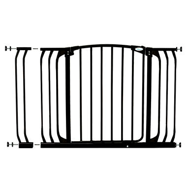 Dreambaby Chelsea Xtra Hallway Auto Close Security Gate Combo, Black