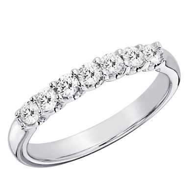 050 CTTW 7Stone Shared Prong Diamond Anniversary Band in 14K