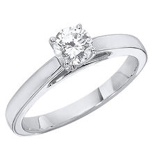 0.75 CT. Cathedral Diamond Solitaire Engagement Ring in Platinum (H-I, I1)