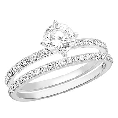 1.00 CT. T.W. Diamond Engagement Set in Platinum (H-I, I1)