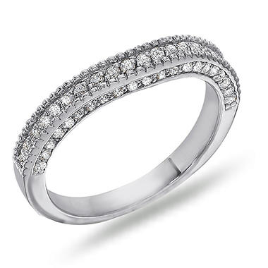 0.16 ct. t.w. Vintage Style Matching Diamond Band in 14K White Gold