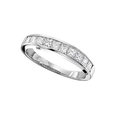 tw ladies princess cut diamond wedding band h i si2 - Princess Cut Diamond Wedding Ring