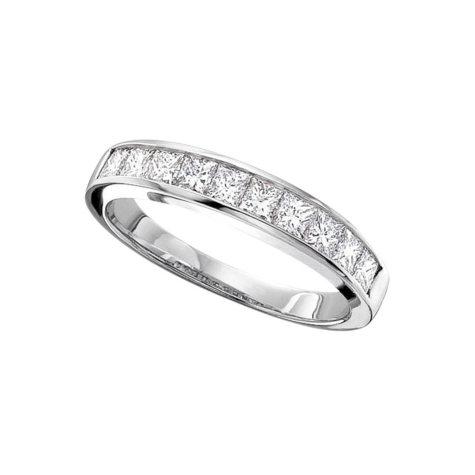 0.33 ct. t.w. Ladies Princess Cut Diamond Wedding Band (H-I, SI2)