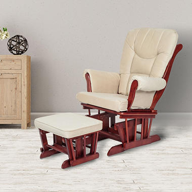 Afg Sleigh Glider With Ottoman Choose Your Color Sam S